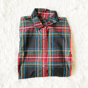J. Crew Perfect Fit Plaid Button down Size 4